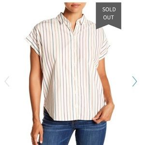 Madewell Central Shirt in vertical stripe